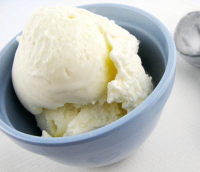 helado de vainilla