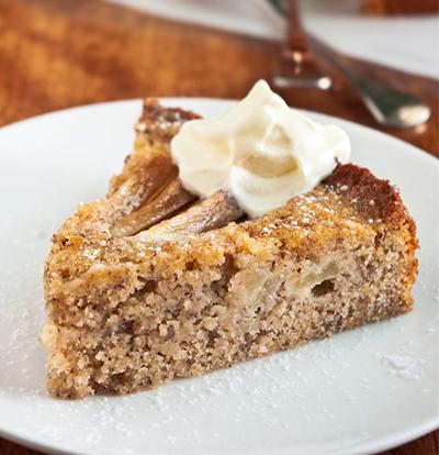 cake de almendra y pera