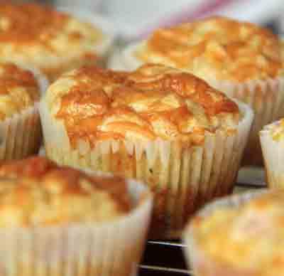 muffin con cheddar